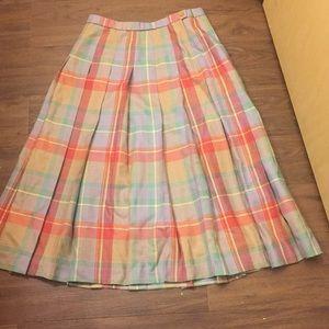 Pendleton Size 10 Pastel Plaid Skirt